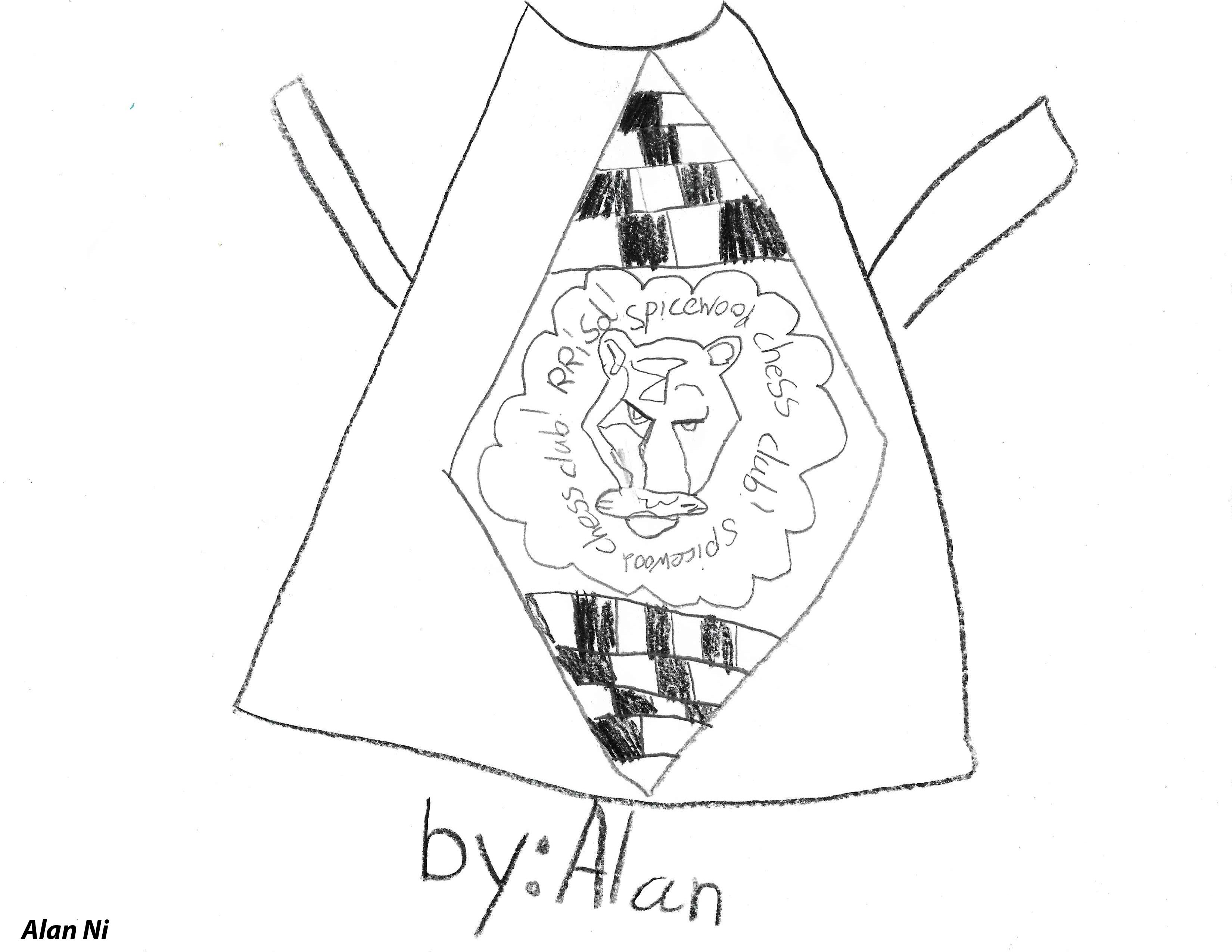 Alan Ni-Chess club t-shirt design