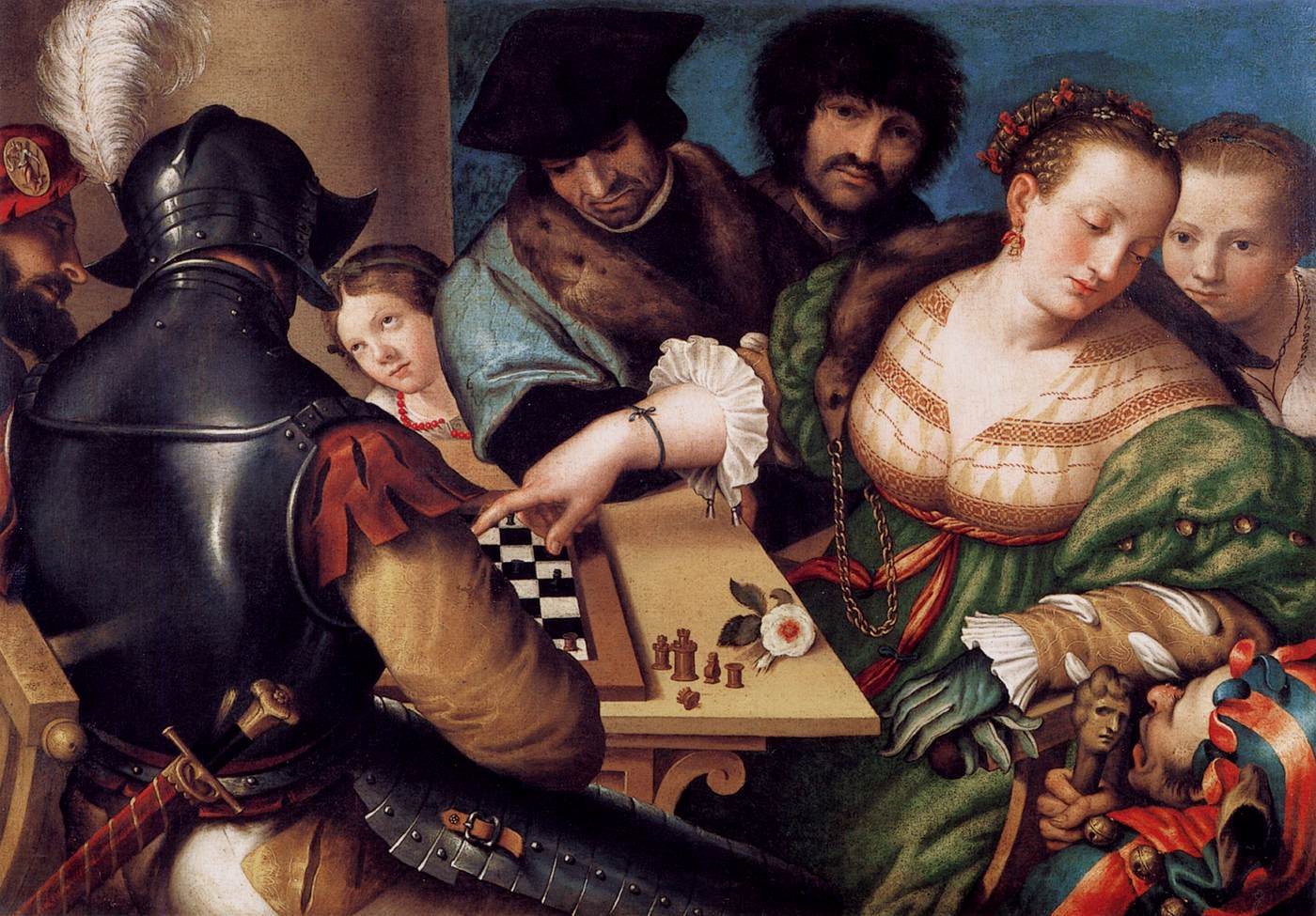 1550 A Game of Chess by Giulio Campi.jpg
