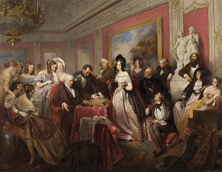 1839 Game of Chess by Josef Danhauser.jpg