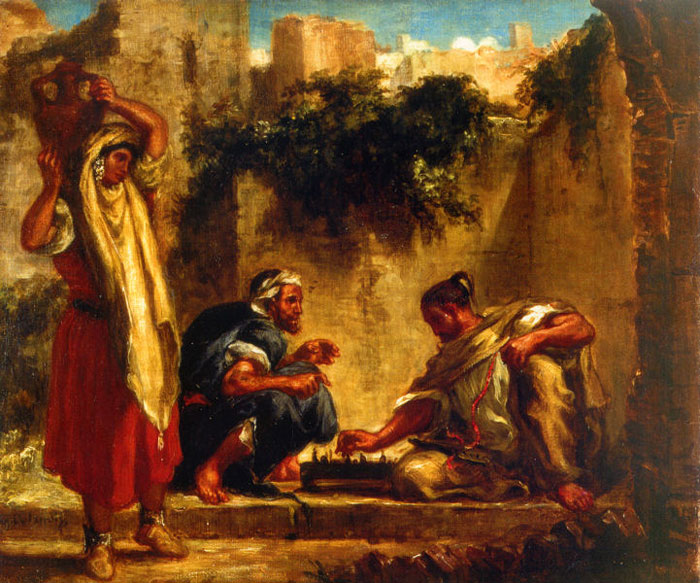 1847 Arabs playing Chess by Delacroix.jpg