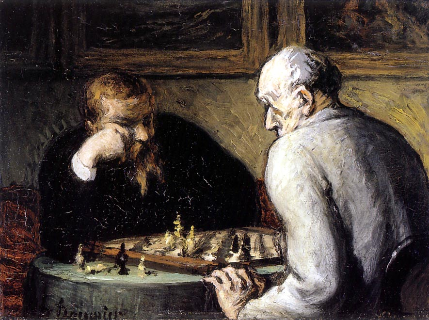 1865 The Chess Players by Honoré Daumier.jpg