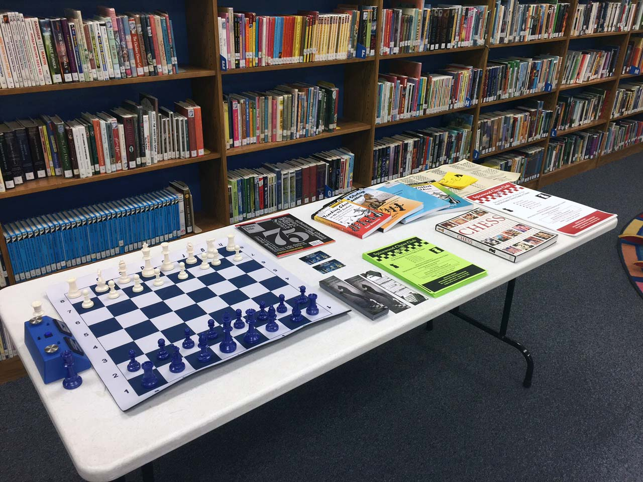Chess Club table setup