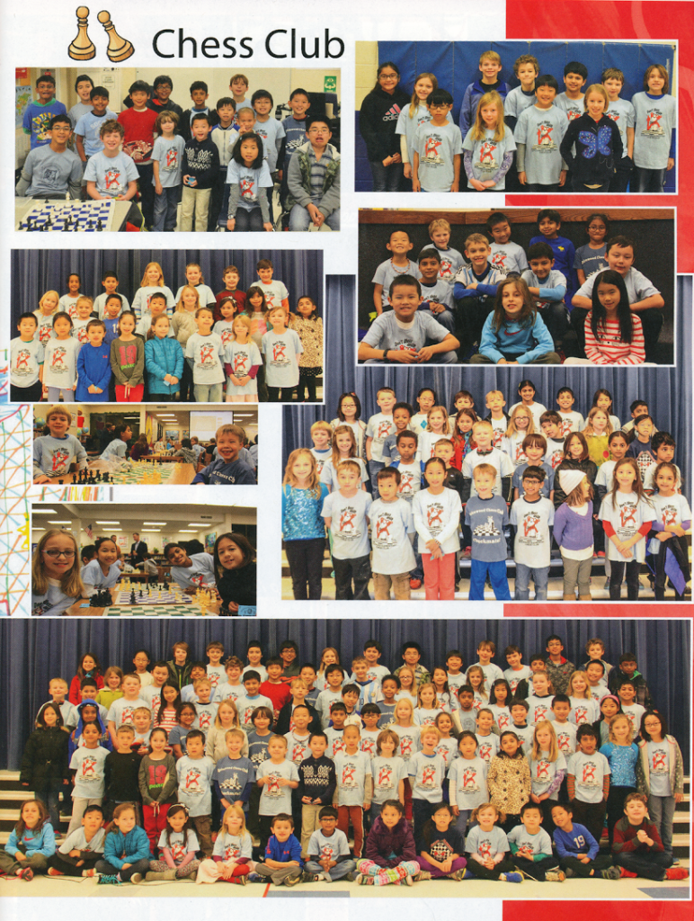 Chess Club Yearbook Page